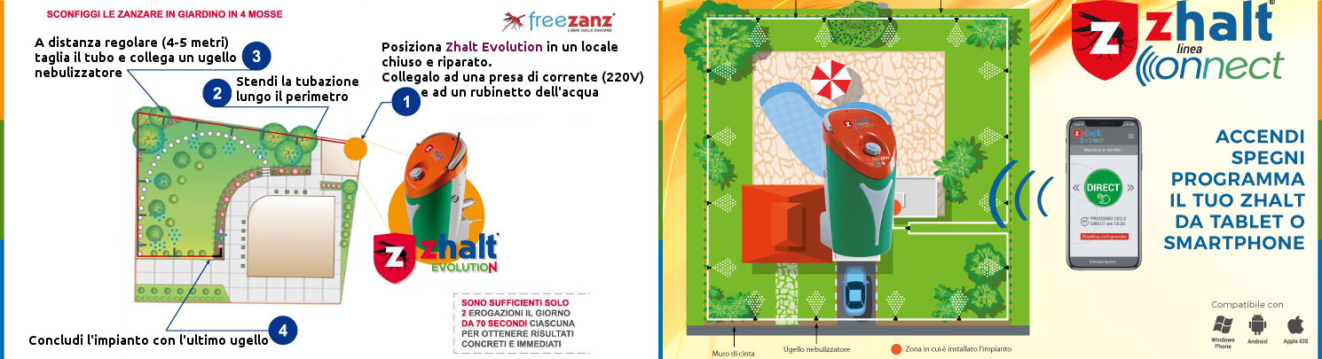Sistema antizanzare Freezanz: installazioni a Bologna a cura ditta Bilacchi